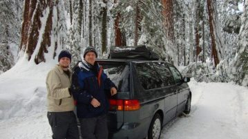 honda odyssey with snow chains